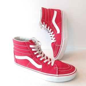 Red Vans Old Skool Hi Tops 8.5